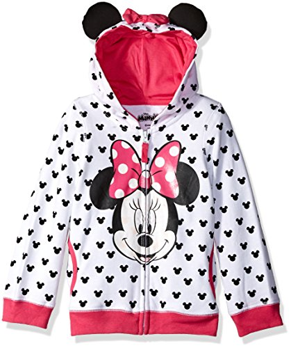 Disney Toddler Girls' Minnie Hoodie with Bow and Ear, White, 5T by Disney