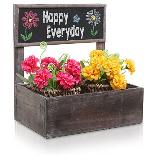Storage Display Planter Erasable Chalkboard