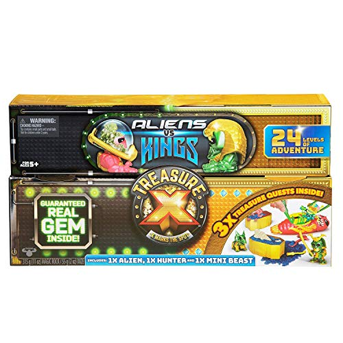 Treasure X: Kings Gold - Aliens Vs Kings. Dissection & Digging Kits with Slime, Magic Rock, Action Figures, & Treasure