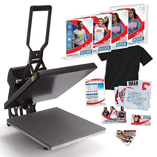 """Hotronix MAXX Clam 16"""" x 20"""" Heat Press Bundle with Marketing Kit - Warranty - Made in USA"""