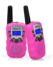 Upgrow Walkie Talkies 8 Channel 2 Way Radio Kids Toys Wireless 0.5W PMR446 Long Distance Range Walkie Talkie for Field Survival Biking and Hiking (T388-Black)