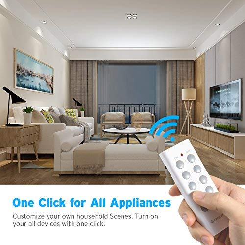 Etekcity Remote Control Outlet Kit Wireless Light Switch for Household Appliances, Pair Freely, Up to 100 ft. Range, FCC ETL Listed, White (Learning Code, 5Rx-2Tx) by Etekcity (Image #4)