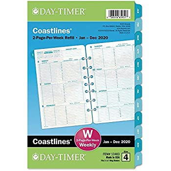Amazon.com : Day-Timer 2020 Weekly Planner Refill, Two