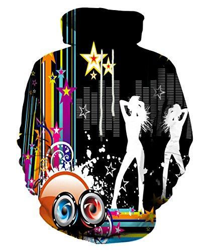 (EOWJEED 3D Digital Print Athletic Sweaters Hoodie Hooded Sweatshirts S)