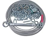 Freedom Aerial Dog Runs 100 FT Heavy Duty Chain Lead Line FADR-15CL