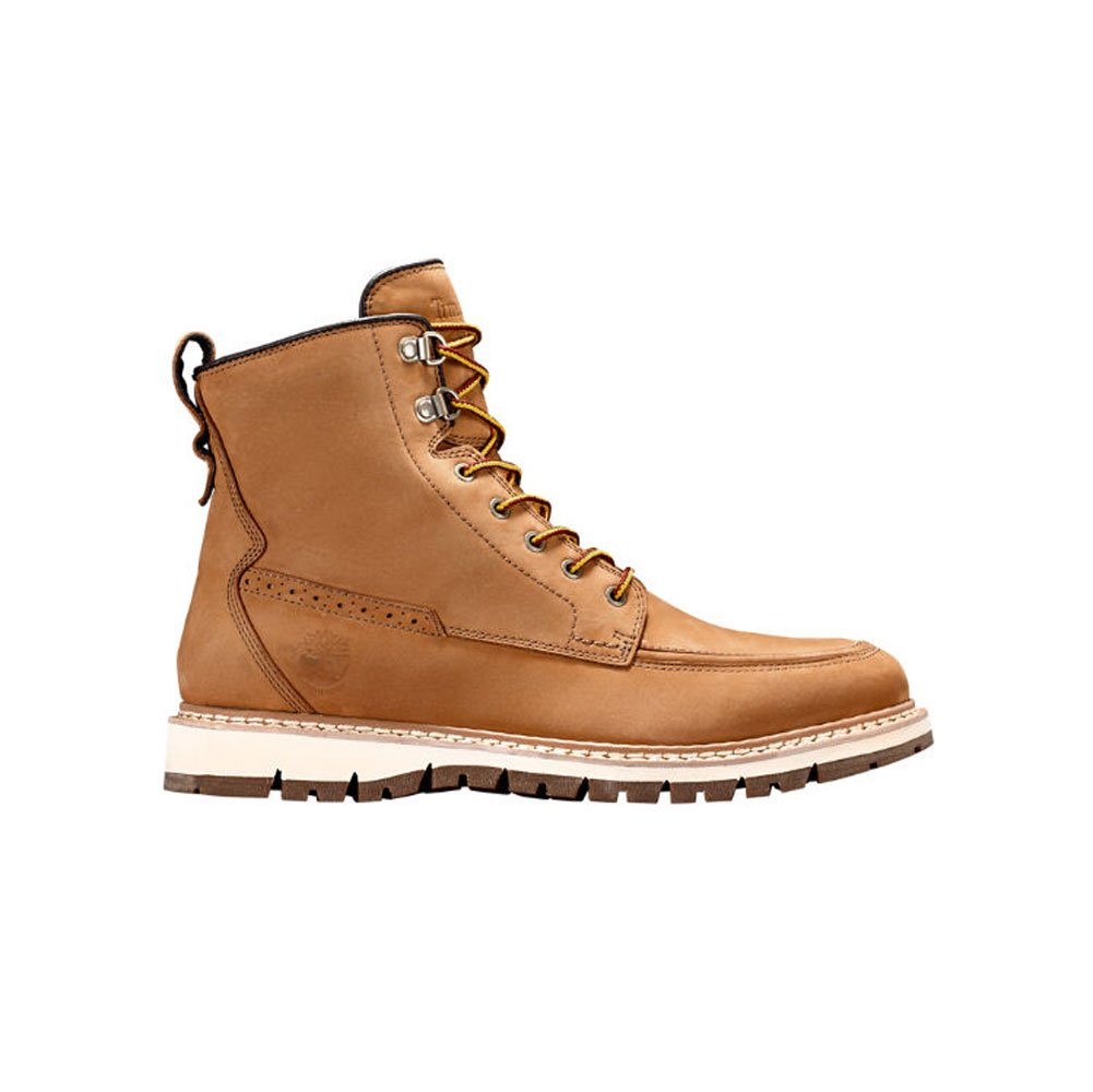 Timberland Men's Britton Hill Waterproof Moc Toe Boot, Wheat Nubuck, 9 D