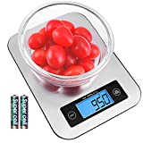 Digital Kitchen Scale Food Scales, TOBOX Postage Scale Multifunction Stainless Steel Accuracy with LCD Display and Tare Function for Baking and Cooking (Silver)