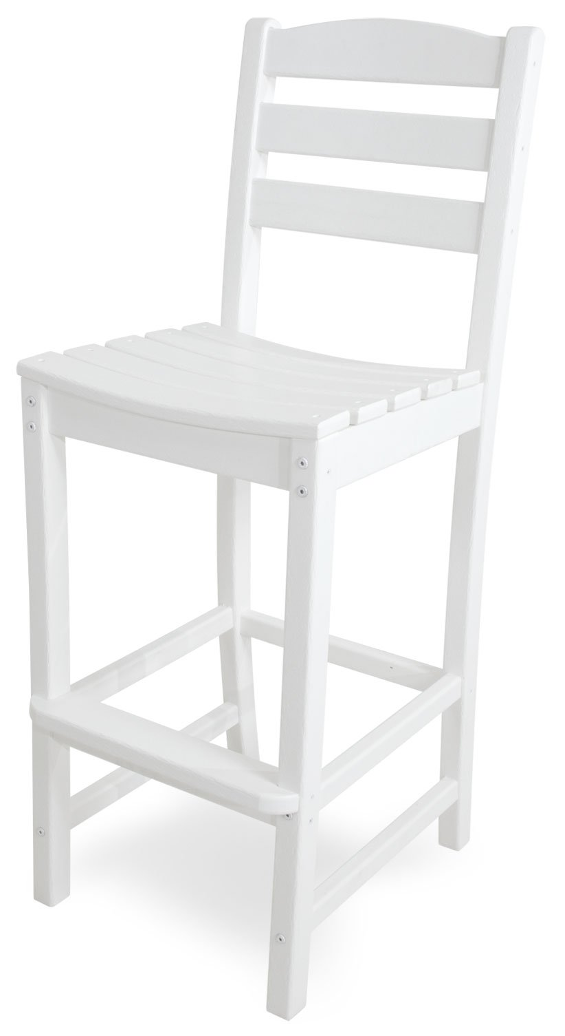 POLYWOOD TD102WH La Casa Café Bar Side Chair, White
