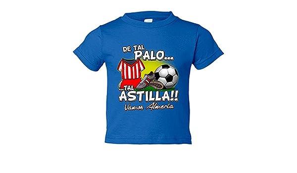 Camiseta niño De tal palo tal astilla Almería fútbol - Azul Royal, 3-4 años: Amazon.es: Bebé