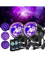 Litake Uv-blacklight discobol, led-podiumverlichting, 6 W, 7 verlichtingsmodi, afstandsbediening, DJ-projector, disco, party, lamp voor bar, Kerstmis, Halloween, bruiloft, verjaardag, show club
