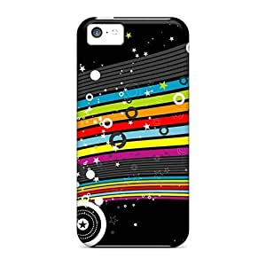 linJUN FENGiphone 6 plus 5.5 inch Case Cover - Slim Fit Tpu Protector Shock Absorbent Case (colorful Stars Hd)