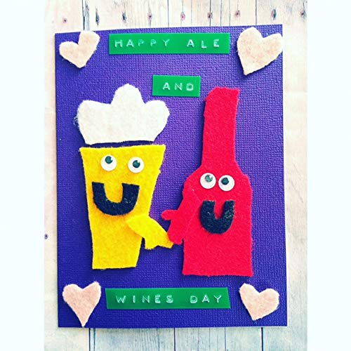 - Happy Ale and Wines Day! Drinking Themed Valentine Card, Anti-Valentine Card, Wine Valentine, Beer Valentine Card, Valentine Card For Friend, Funny Valentine Card, Pun Valentine Card, Felt Valentine