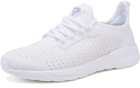 GERPY Zapatos de Mujer Calientes Zapatillas de Deporte Blancas de ...