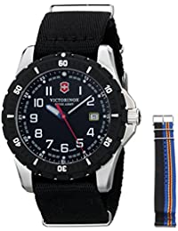 Men's 241674.1 Analog Display Swiss Quartz Black Watch