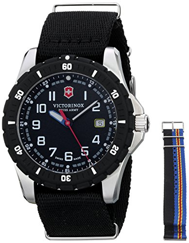 Victorinox Men's 241674.1 Analog Display Swiss Quartz Black Watch (Watch Crystal Sapphire)