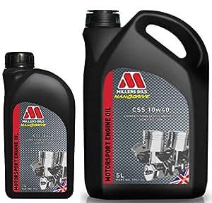Millers CSS 20W60 Motorsport - Aceite Semi sintético para Motor, 6 ...