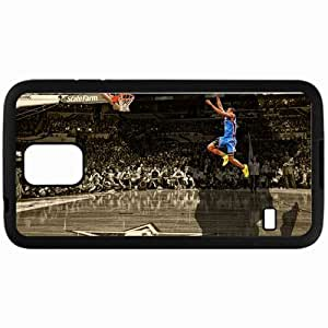 Personalized Samsung S5 Cell phone Case/Cover Skin 14949 serge ibaka free throw dunk by rhurst d3a9e4y Black