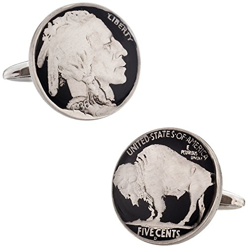 Cuff-Daddy Hand Painted Buffalo Nickel Cufflinks with Presentation Box