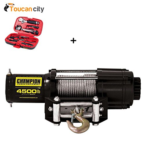Toucan City Tool Kit (9-Piece) and Champion Power Equipment 4500 lb. Winch Kit 40252