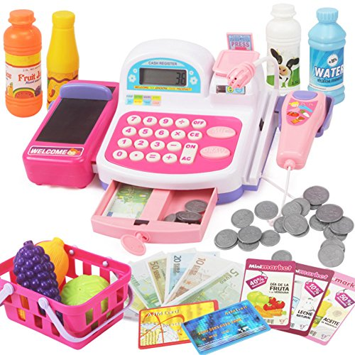 House Simulated Shopping Checkout Toys Supermarket Cash Register Toys ()