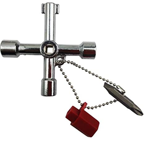 Liamostee - Llave de Cruz multifunción para radiadores, medidores, armarios eléctricos de Gas