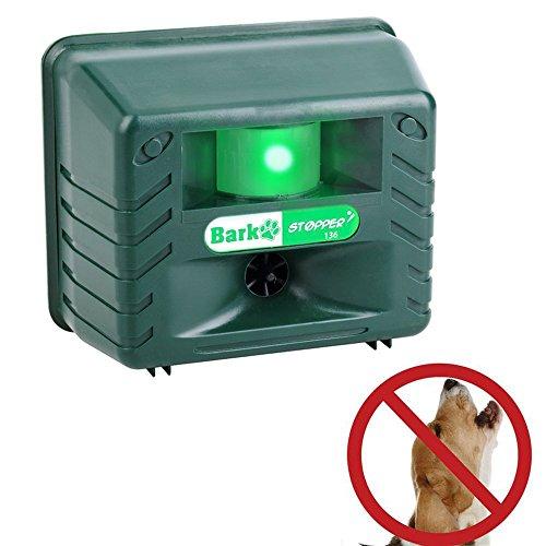 Seicosy Weatherproof Indoor/Outdoor Ultrasonic Animal Repeller& Dog Bark Control,Gradually Stop Dog Barking, Bark Free Device ()