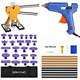 BBKANG Paintless Dent Removal Repair Tools kit - 41Pcs Car Dent Puller Kit Golden Dent Lifter Easy to Use for Small Dent Hail Damage Door Ding Remover