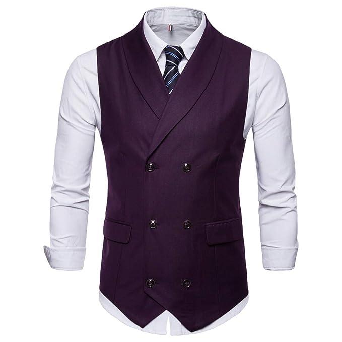 Chengyang Sans Slim Leisure Gilet Élégant Business Fit Costume Homme Veste Manches Mariage rxrqgYS8