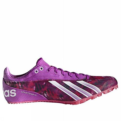 Adidas Sprintstar 4 Zapatillas de tacos para mujer - Rosado, blanco, 9 US: Amazon.es: Zapatos y complementos