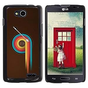 Be Good Phone Accessory // Dura Cáscara cubierta Protectora Caso Carcasa Funda de Protección para LG OPTIMUS L90 / D415 // Colorful Vinyl Retro