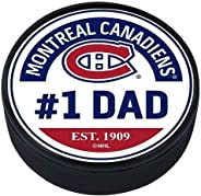 Mustang Product Montreal Canadiens Dad 3D Textured Souvenir Hockey Puck