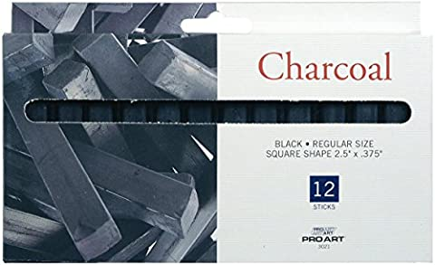 Pro Art Chalk Charcoal, 12 Stick Per package - Chalk Pastel Drawing