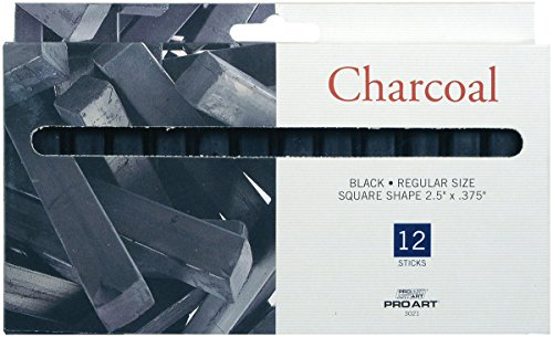 Pro Art PRO-3021 Chalk Charcoal, 12 Stick Per Package