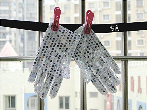 ETbotu - Manoplas de Dedo Completo Unisex con Guantes para niños, 18,57,5 cm, tamaño pequeño (Plata)