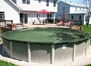 21' X 41' Oval Green Supreme Plus 15 Yr Above Ground Swimming Pool Winter Cover w/ Cover Clips