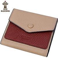 Itslife Women's Small Leather Wallet RFID Card Holder Mini Bifold Ladies Flat Pocket Purse