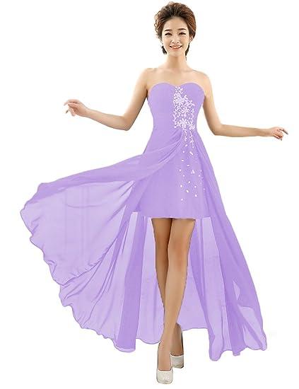 Purple Chiffon Party Dress Picture