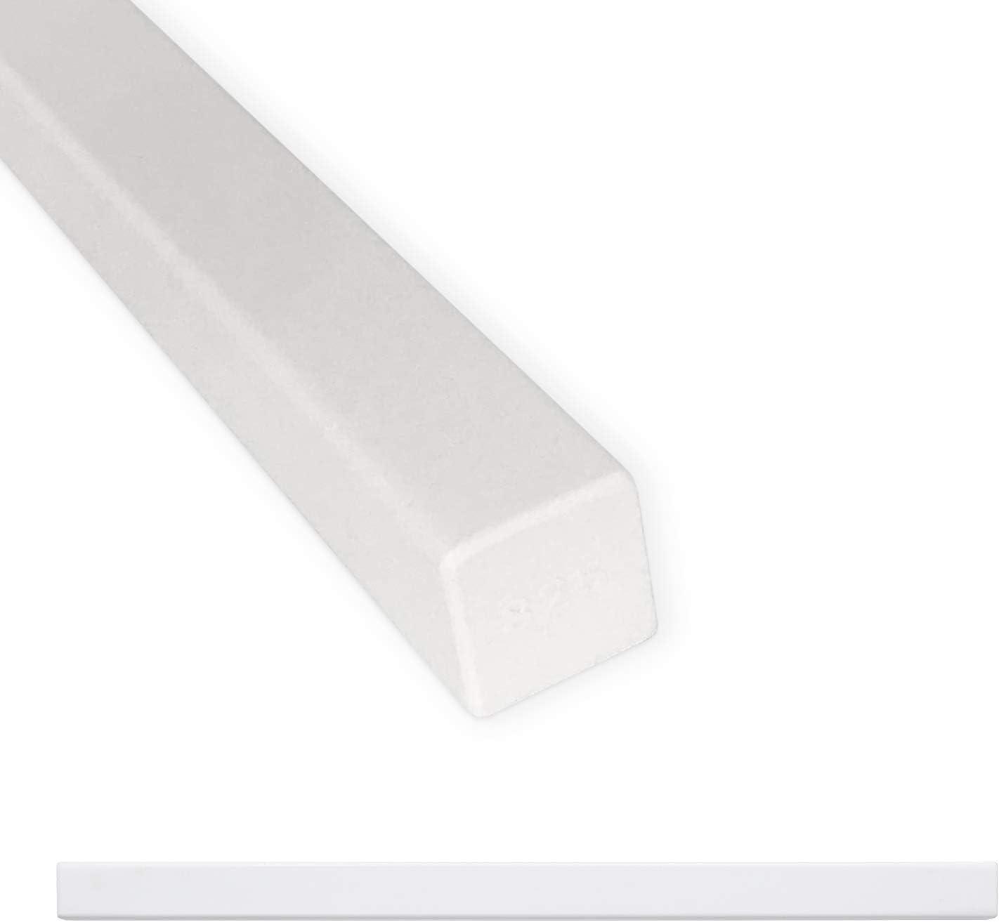 Tile Trim 3//4 x 12 inch Linear Flat Pencil Shower Edge Ceramic Tile Transition Liner Backsplash Wall Molding 12 Pack Graphite