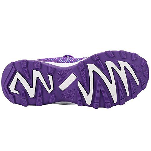 Alexis Leroy ligero y respirable, Zapatillas de deporte con cordones para Mujer Morado