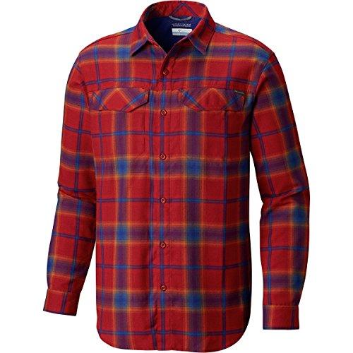 Columbia Men's Silver Ridge Flannel Long Sleeve Shirt, Red E