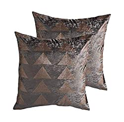 Geometric Velvet Decorative Pillow Covers With Sequin