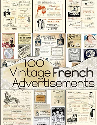 Altered Book Journal - 100 Vintage French Advertisements
