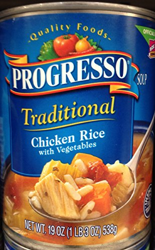 Cheap Progresso Traditional Chicken Rice with Vegetables Soup 19oz Can (Pack of 5)
