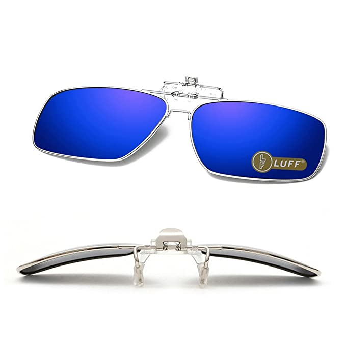 Clip en las gafas de sol polarizadas Mens/womens Flip up polarizado lentes de sol caber sobre gafas graduadas/lectores/deportes al aire libre