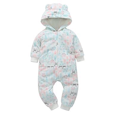 b16235754bd84 DAY8 Vêtement Bébé Garçon Hiver Noël Pyjama Bébé Garçon Naissance Pas Cher  Combinaison Bébé Fille Automne