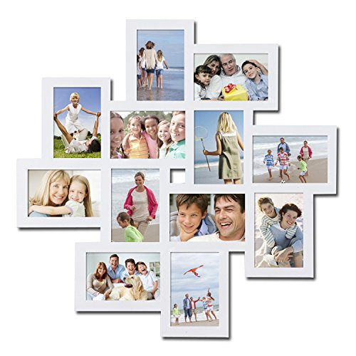 Homebeez Photo Collage Frame (White 12 Openings) (Best Way To Memorise Something)