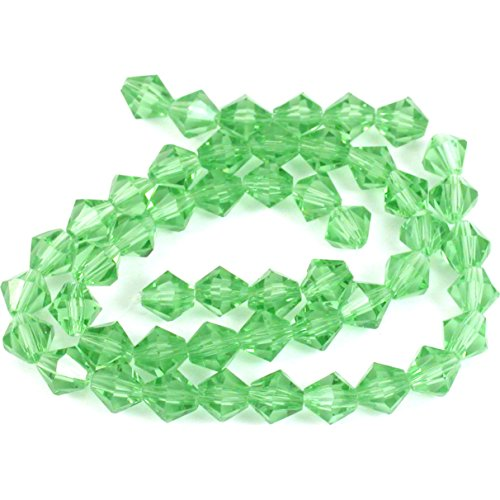- Light Green Bicone FP Chinese Crystal Beads 6mm 1 St