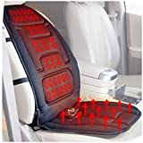 SPRING CLEARANCE CTAUSA Universal Heated Massage Seat Car Cushion 12-volt Plug's Into Cigarette Lighter For Luxurious Heat & Massage