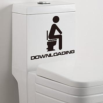 Qianxing witziges abnehmbares WC Badezimmer Wandbild Wandtattoo ...