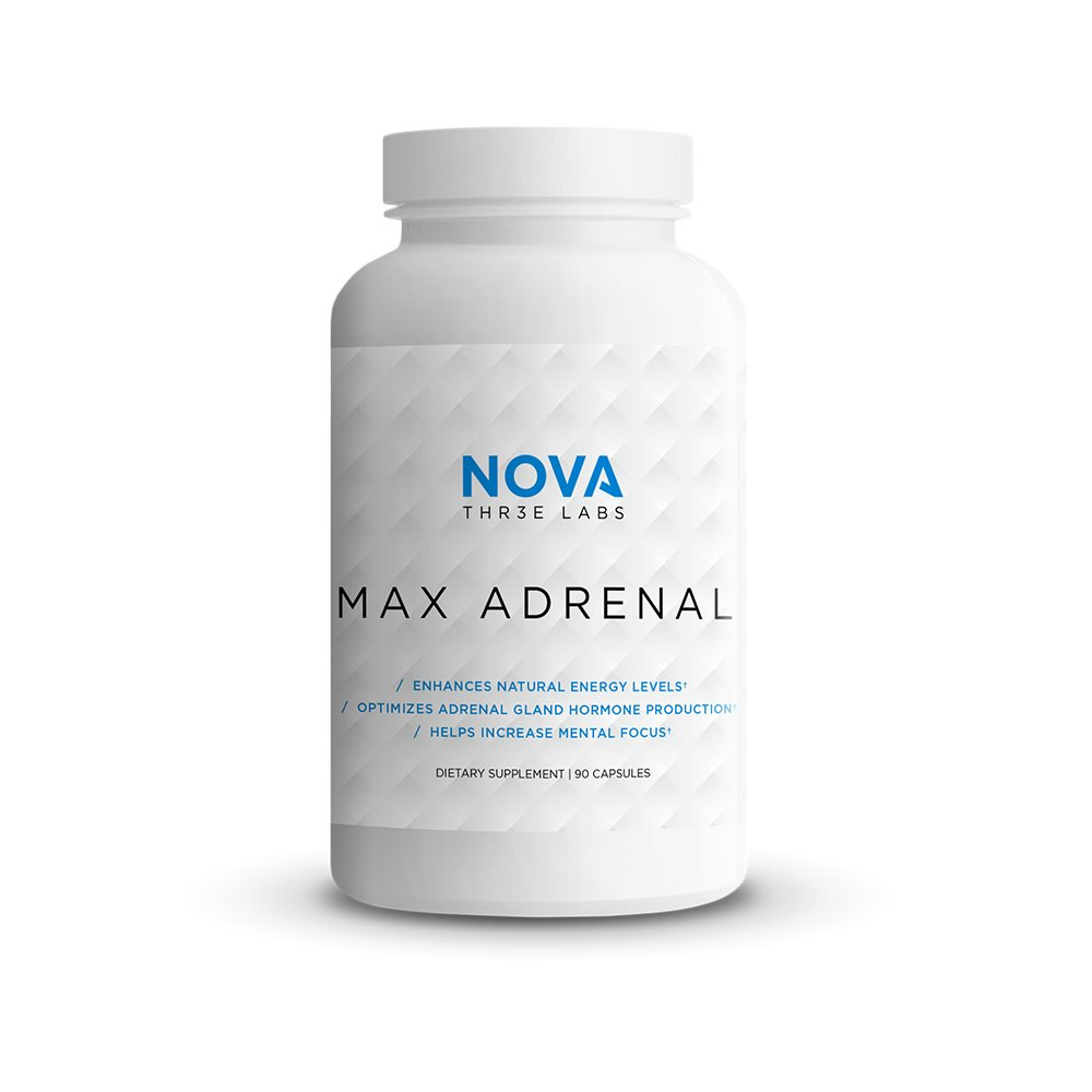 NOVA Three Labs | Max Adrenal 2.0 | Enhance Energy, Optimize Hormones, Increase Mental Focus, and Improve Well-Being | 30 Servings by NOVA Three Labs